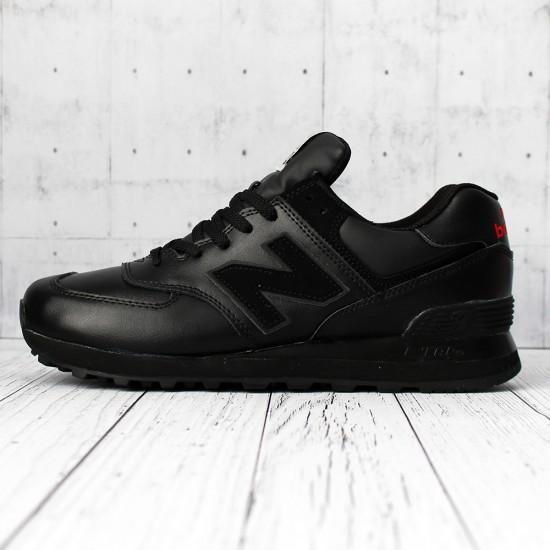 Кроссовки New Balance 574 кожаные черные