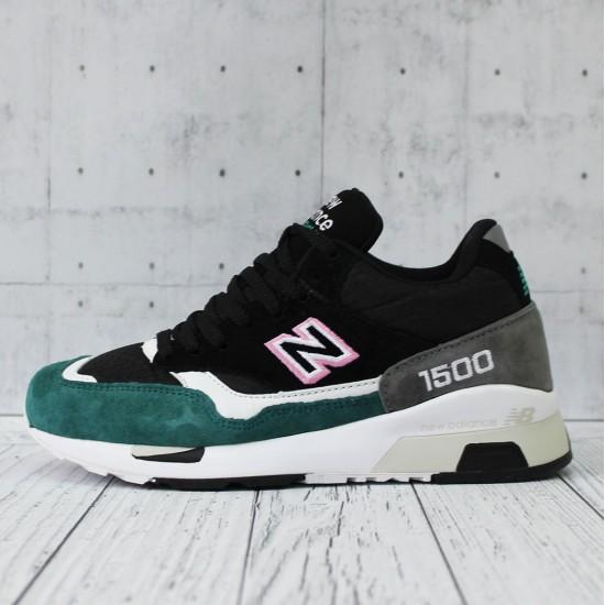 """Кроссовки Кроссовки """"New Balance"""" 1500 черные с зеленым"""