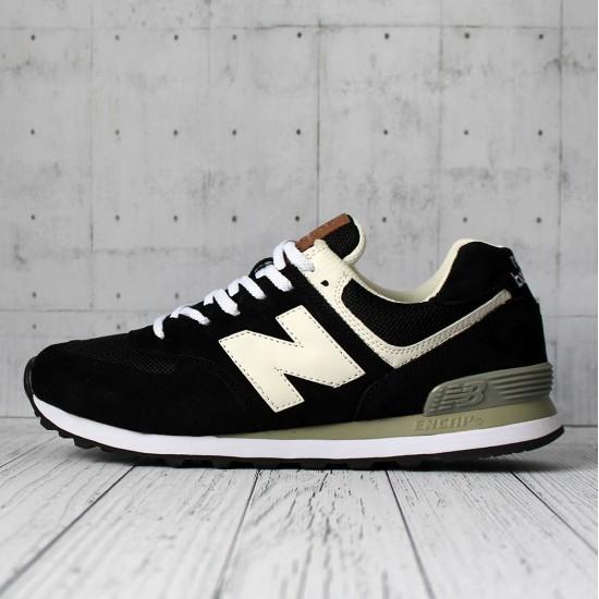 Кроссовки New Balance 574 черные с белым мужские